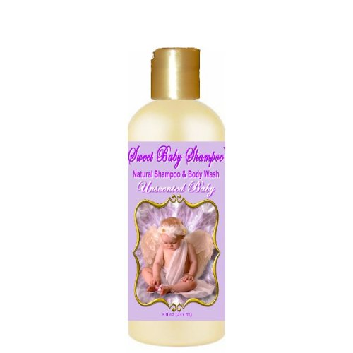 Sweet Baby Shampoo, 8 oz., Sulfate Free, No Parabens, Phthalates, Dyes, Endocrine Disruptors, SLS Free, Natural (Unscented Baby)