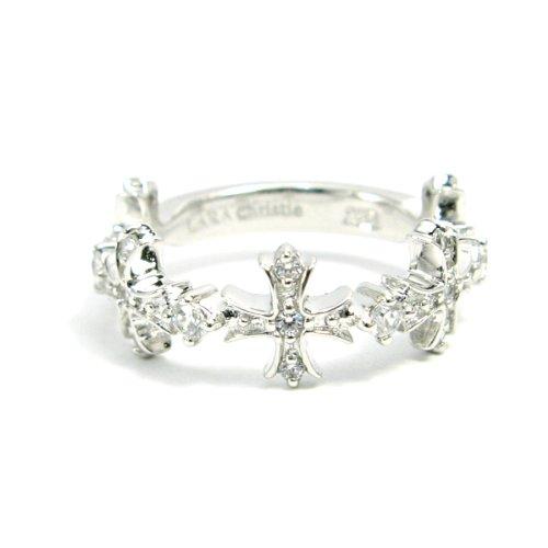[ララクリスティー]LARA Christie リング アントワープ クロス (指輪) [ WHITE Label ] R5905-W-11 日本サイズ11号