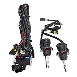 See Xenon H13-3 High/Low Beam Conversion HID Lamp Bulbs for Car Headlight (12V-55W, 2-Piece) , 6000K Details