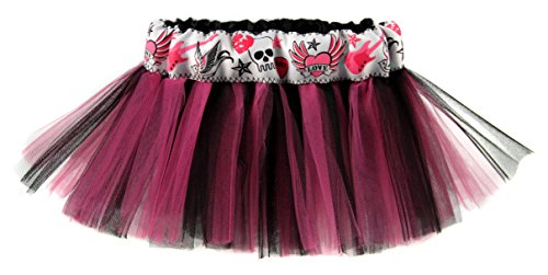 Baby Girls Punk Tattoo Hot Pink & Black Designer Tutu