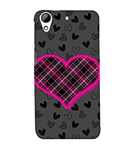 Net Love Heart 3D Hard Polycarbonate Designer Back Case Cover for HTC Desire 728G Dual Sim::HTC Desire 728G::HTC Desire 728