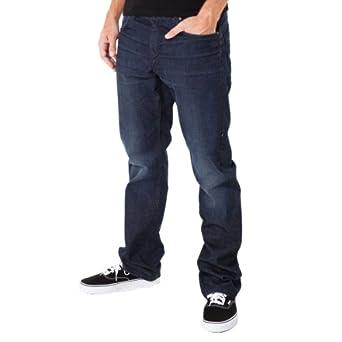 Volcom - Mens Enowen Jeans, Size: 31W x 34L, Color: Grady Blue