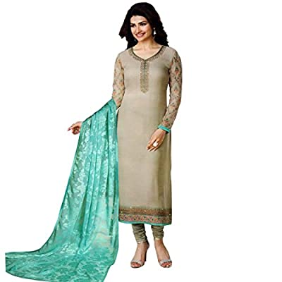 Designer Wedding Georgette Embroidered Salwar Kameez (Un-Stitched Dress Material)