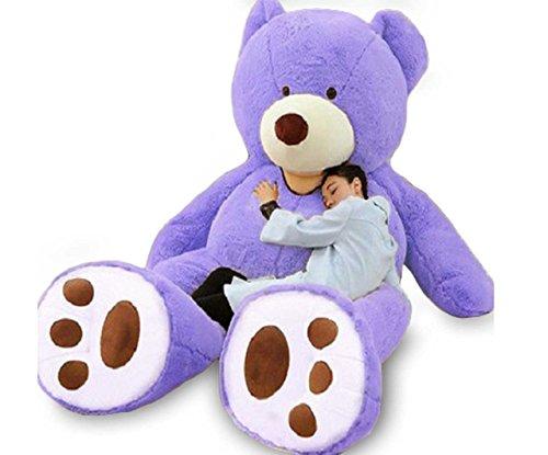 (クー)KUUU 大きな くまのぬいぐるみ ビッグテディベア 可愛い ふわふわ 超特大 もこもこ 抱き枕 クマちゃん お友達 パープル 260cm 熊紫260