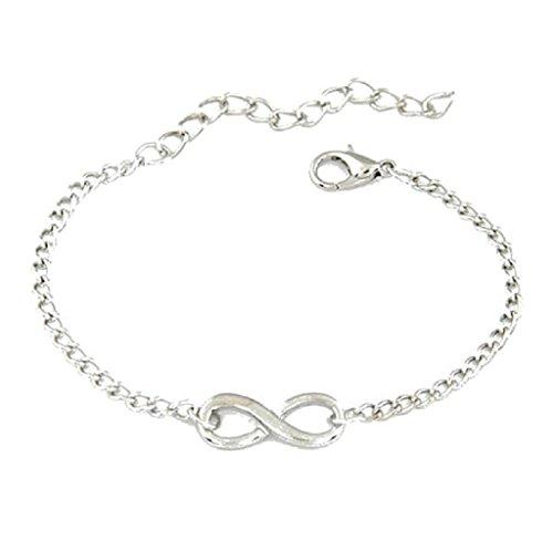 Braccialetto Familizo Nuovo regalo delle donne fascino uomini Handmade 8 del braccialetto di Infinity gioielli a forma di_Argento