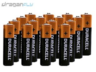 Sixteen Alkaline AA Batteries for Your Transmitter