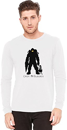 cmon-mrbubbles-camiseta-de-manga-larga-long-sleeve-t-shirt-100-preshrunk-jersey-cotton-small