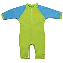 Fiji Sun Protective UPF 50+ Baby Swimsuit by Nozone in Lime/Aqua, 0-6 months
