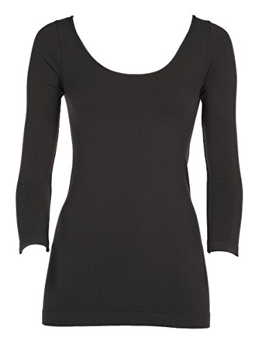 Tees By Tina 3/4 Sleeve Top - Charcoal