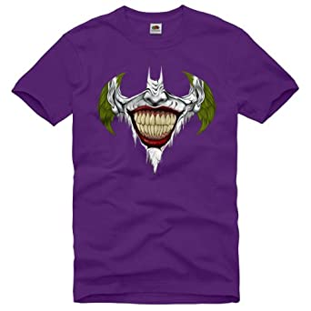 style3 Joker Ricaneur T-Shirt Homme dark knight ledger batman heath rises begins the gotham, Taille:S;Couleur:Noir