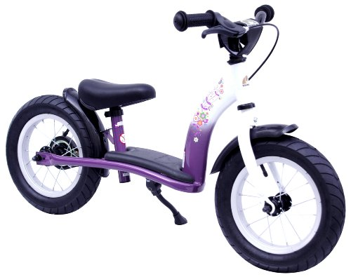 bikestar 12 inch (30.5cm) Kids Balance Bike / Kids Running Bike - Classic - Lilac and White