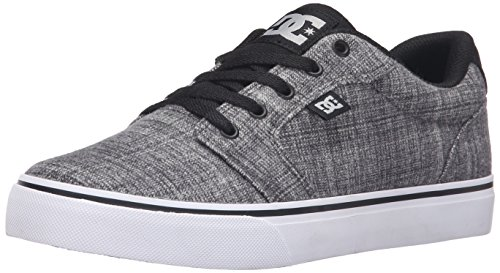 DC Men's Anvil TX SE Skateboarding Shoe, Grey Heather, 10 M US