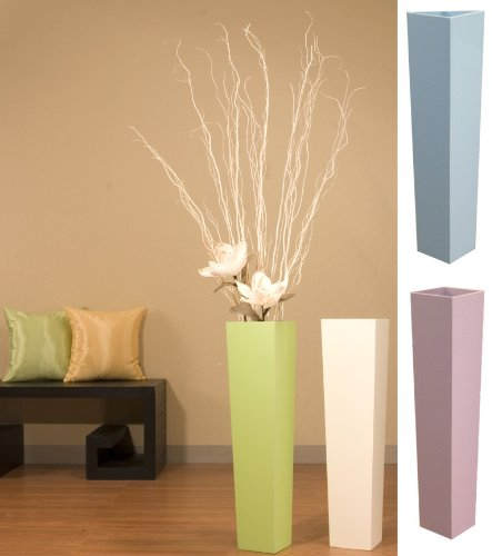 Tall Tapered Floor Vase White Branches