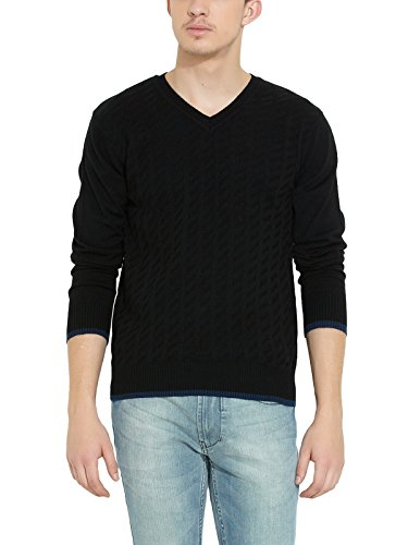 NUMERO UNO Men Acrylic Black SWEATER