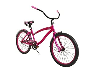 Dynacraft 8153-47TJ Decoy Women's Cruiser Camo Bike, 24-Inch, Red/Pink/Black