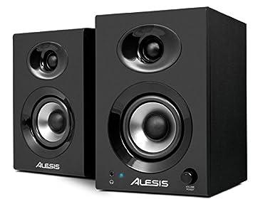 Alesis Elevate 3 | Paire d'Enceintes de Monitoring Actives 60 W avec Bass Boost pour Création Multimédia Professionnelle  sur PC et MAC