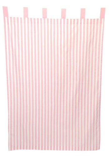 Tadpoles Stripe Curtain Panels, Set of 2, Pink - 1