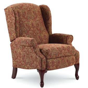 Lane Hampton Hi-Leg Recliner in Cinnabar