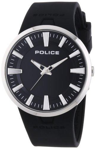 Police - PL.14197JS-02 - Montre Mixte - Quartz Analogique - Cadran Noir - Bracelet Silicone Noir