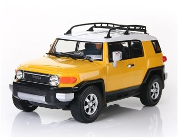 KAM CHUN Toyota Fjcruiser 6618-953E 4-Channel RC Car with Remote Controller (Yellow)