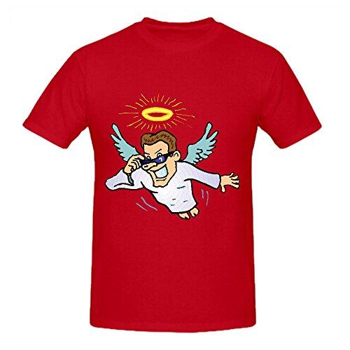 angel-cartoon-summer-t-shirts-for-men-round-neck-red-design