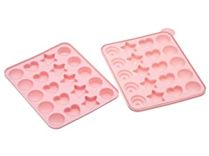 Kitchen Craft 23 x 18.5 cm Sweetly Does It Silicone 20 Hole Assorted Patterned Cake Pop Mould