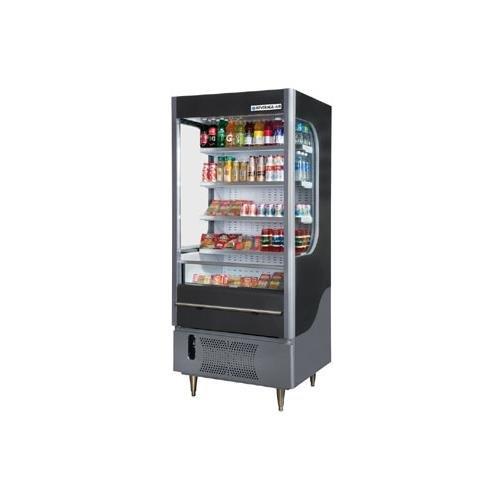 Beverage Air VM7-1-G Open Air Merchandiser w/ Glass Sides, Gray, 7-cu ft