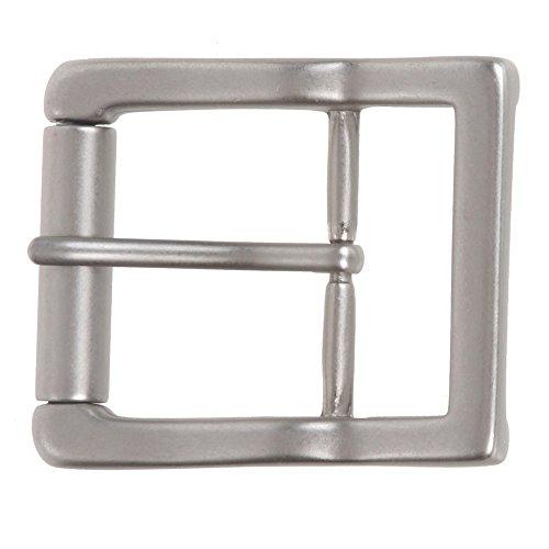 "1 1/2"" (38 mm) Nickel Free Center Bar Single Prong Roller Belt Buckle Color: Antique Silver"