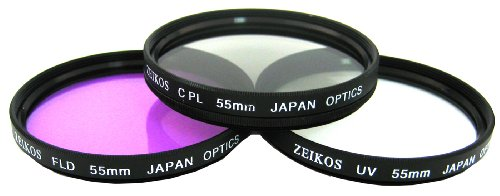 Zeikos ZE-FLK55 55mm Multi-Coated 3 Piece Filter