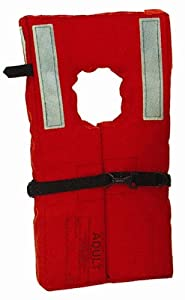 Kent Commercial Type I Collar Style Life Jacket, Adult Over 90 Pounds, Orange