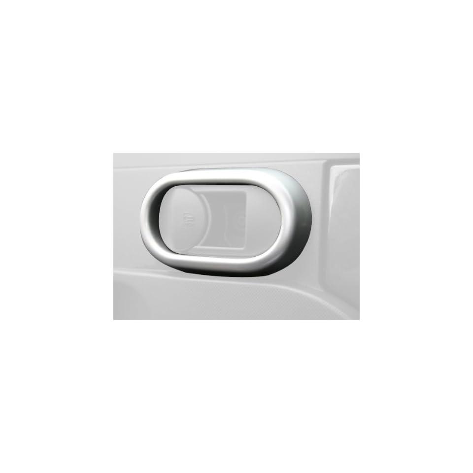 Rugged Ridge 11151.20 Brushed Silver Door Handle Interior Trim Cover   Pair