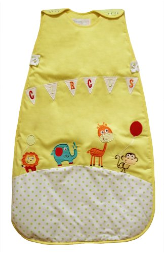 The Dream Bag Baby Sleeping Bag Circus COTTON 0-6 Months 2.5 TOG - Yellow - 1