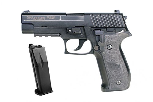SIG Sauer P226 Navy Full Metal Gas Blowback 6mm (One Extra Gas Mag) (Full Metal Blowback Green Gas compare prices)