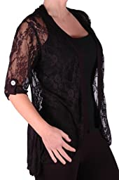 Emily Ladies Elegant Lace Cardi Womens Plus Size Cardigan US 22/24