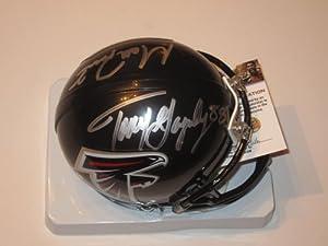 Matt Ryan Tony Gonzalez Atlanta Falcons Duel Signed Autographed Mini Helmet Authentic...