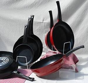 Evaco Cast Aluminum Non-stick 3.4 Quart Saucier (Black) by Evaco