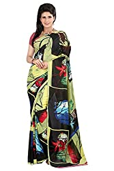 Pruthu Georgette Sari with Unstitched Blouse (plava_005)