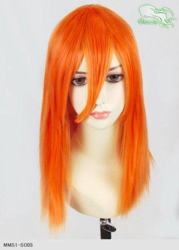 スキップウィッグ 魅せる シャープ 小顔に特化したコスプレアレンジウィッグ フェアリーミディ ネオンオレンジ
