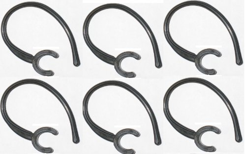 """6 Black Ear Hook Replacement Stabilizer """"Compatible"""" With: Lg-Hbm 210 230 235 330 520 570 730 750 760 770 800 (Bluetooth)"""