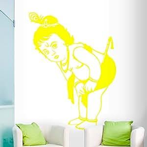 DeStudio Krishna Flip Chalkboard Wall Decal, Size XXX Large & Color : YELLOW