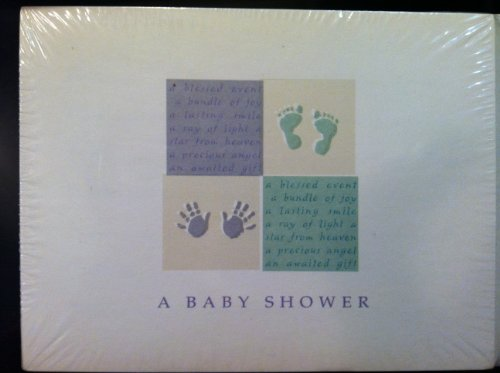 A Baby Shower Hand Foot Print Invitations 10 Count Note Cards