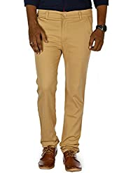 Jugend Stretchable Slim Fit Casual Trousers/chinos For Men