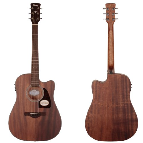 Ibanez AW54CEOPN Artwood Solid Top Dreadnought Acoustic-Elec