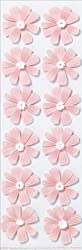 Martha Stewart Crafts Stickers, Dimensional Pink Cosmos