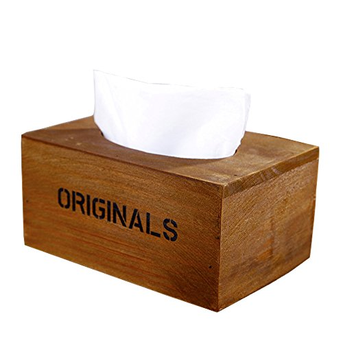 Celestte Tm Simple Design Vintage Wooden Tissue Box Tissues Case Holder Home Garden Bathroom