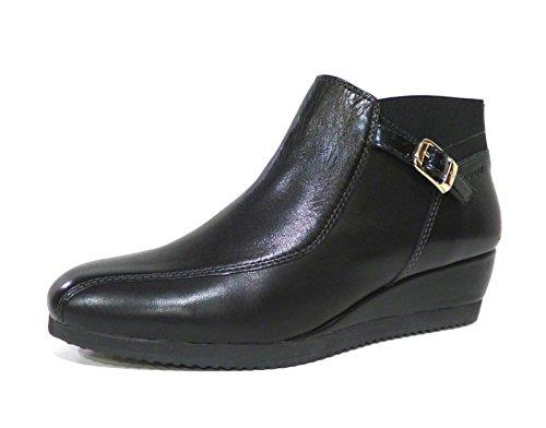 Stonefly 105007 Francy 3 scarpa donna alla caviglia nera con zeppa e elastici n° 35
