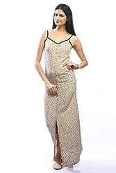 Pinwheel Women's Crepe Dress (Pwss15Mx012_Beige_Large)