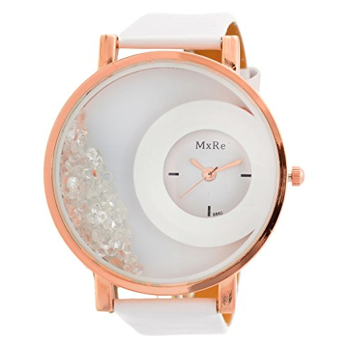 Horse Head Kitcone Analogue Movable Beads White Dial Womens and Girls Wrist Watches