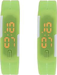Xeno LED Band Green Combo Unisex Wrist Watch