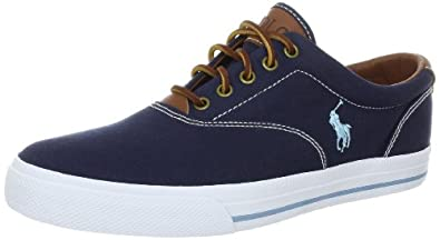 Polo Ralph Lauren Men's Vaughn Sneaker, Navy, 7 D US
